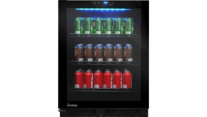 vinotemp beverage cooler touch screen controls glass door - Mini Fridge Glass Door